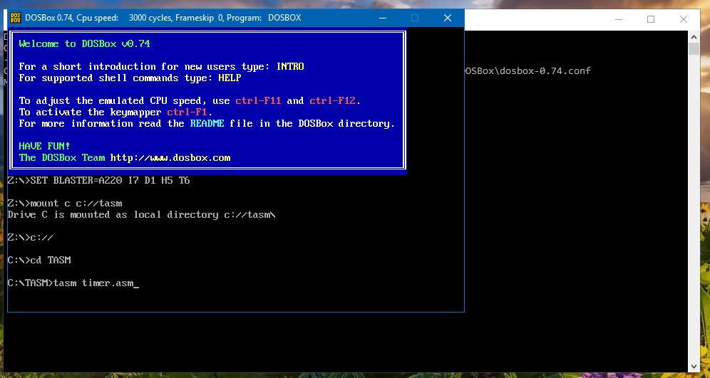 dosbox für windows 10